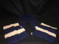 Photo of Navy Blue Alpaca Scarf
