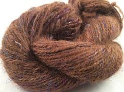 Alpaca Yarn Tencel Silk 103Handspun Suri