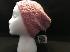 Photo of Pink Broomstick Lace Alpaca Hat