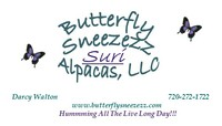 Butterfly Sneezezz SURI Alpacas, LLC - Logo