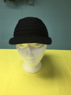 Photo of HAT  --ALPACA RIBBED BRIMMED HAT