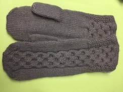Photo of MITTENS  --SNAKE ALPACA MITTENS