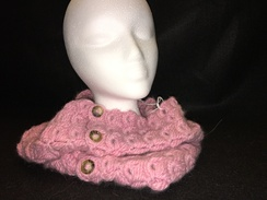 Photo of Broomstick Lace Alpaca Cowl