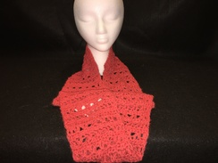 Photo of Melon Orange Alpaca Cowl