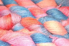 Photo of Alpaca Yarn - Wade Hampton - Blue/Pink