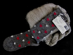 Photo of SOCKS: Baby-Fine Alpaca VALENTINE's Sock