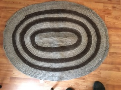 Photo of Oval Alpaca Rug