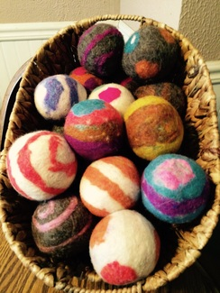 Alpaca/wool Felted Dryer Balls
