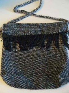 Alpaca and Cotton Woven lined handbag