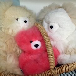 Photo of Pink Baby Alpaca Teddy Bear