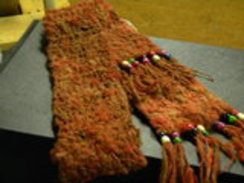 Alpaca Scarf with Beads