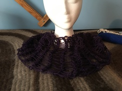 Deep Purple Lace Cowl