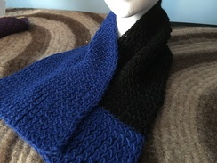 Photo of Black & Blue Scarf