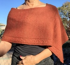 Versatile Poncho with Custom Edging