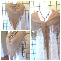 Traingle Wrap Handloomed by Janice