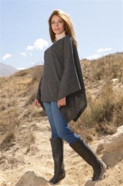 100% Baby Alpaca Sweater Poncho