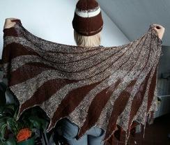 100% alpaca suri shawl