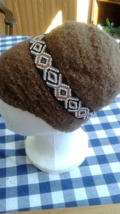 Felted Brown Alpaca Hat