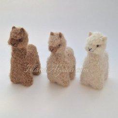 100% Baby Alpaca, Hand-Felted Alpacas