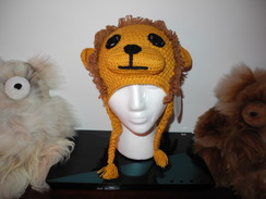 "Photo of Alpaca ""Lion"" hat"