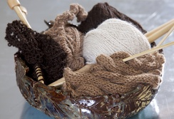 Natural Colors of Suri Yarn by the Ounce