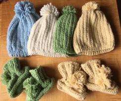 Baby Hat & Bootie Set