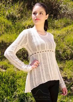 Shantal Alpaca Lace Pullover