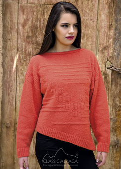 Asymmetric Alpaca Sweater