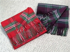 100% Baby Alpaca Plaid Throw