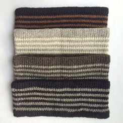 100% Alpaca Striped Headband - Naturals