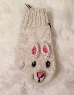 100% Alpaca Youth Bunny Mittens