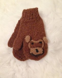100% Alpaca Youth Monkey Mittens