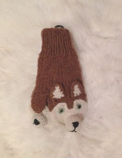 100% Alpaca Youth Fox Mitten
