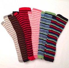 Hand Knit, Open-Finger, Alpaca Arm Warme