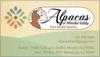 Alpacas of Menifee Valley - Logo