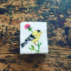 Photo of Yellow Finch & Thistle Felted Soap
