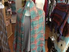 Photo of Spring Greens Woven Shawl
