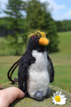 Photo of Felted Sculpture: Rockhopper Penguin