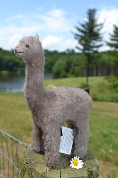 Photo of Merino Rose Gray Alpaca Sculpture