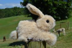 Photo of Fawn Alpaca Fur Rabbit (8 inch)
