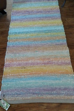 Photo of Handwoven Rug with hand sewn ends SOLD
