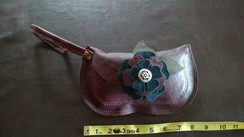 Photo of Alpaca Leather Clutch-Burgundy