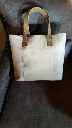 Alpaca Leather-Tan Tote