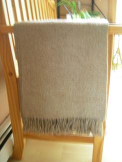 Photo of 100% Alpaca throw - Soft brown