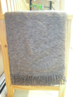 100% Alpaca throw - Brown with black