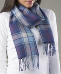 100% Baby Alpaca plaid or solid scarf