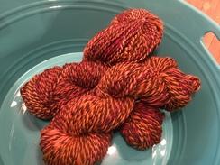 Photo of Handspun, Hand Dyed Alpaca Yarn - Fall.