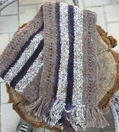 Photo of Unisex Alpaca/Silk/BFL Scarf
