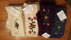 Photo of Enroidered Alpaca Fingerless Gloves