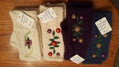 Enroidered Alpaca Fingerless Gloves